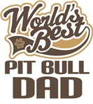 Pit Bull Dad (Worlds Best) T-shirts