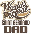 Saint Bernard Dad (Worlds Best) T-shirts