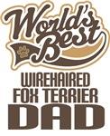 Wirehaired Fox Terrier Dad (Worlds Best) T-shirts