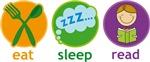 Eat Sleep Read Kids Reading T-shirts