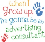 Future Advertising Consultant Kids T-shirts