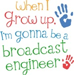 Future Broadcast Engineer Kids T-shirts