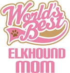 Elkhound Dog Mom T-shirts and Gifts