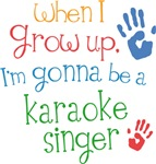 Future Karaoke Singer Kids T-shirts