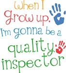 Future Quality Inspector Kids T-shirts