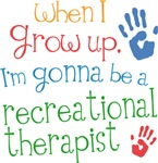Future Recreational Therapist Kids T-shirts