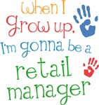 Future Retail Manager Kids T-shirts