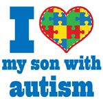 Autism I Love My Son Support Shirts and Gear