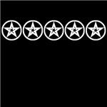 Pentagram As Above Black & White