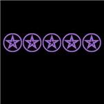 Purple As Above Pentagram Pentacle