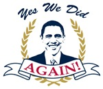 Obama Yes We Did Again V2 Color