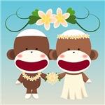 Sock Monkey Hawaiian Wedding