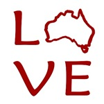 LOVE Australia t-shirts & gifts!