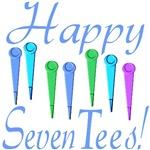 70th Birthday Gifts, Happy 7 Tees!