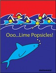Lime Pops Shark and Swimmers