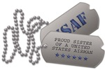 Air Force Sister Dog Tags