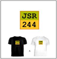 A) Custom Black or White T-Shirt w/ (JSR Square)