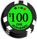Well It's $100 Bucks.  The Hundred Dollar Poker Ch
