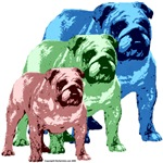 3 Color Bulldogs Design
