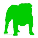 Green Bulldog Silhoutte