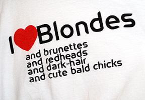 I love Blondes
