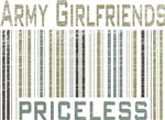 Army Girlfriends Priceless Barcode T-shirts & Gift