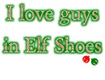 I Love Guys Elf Shoes Christmas T-shirts & Gifts