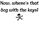 Dog with Keys Pirate Caribbean T-shirts & Gifts