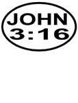 John 3:16 Christian European Oval T-shirts & Gifts