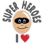 I Love (Heart) Super Heroes T-shirts & Gifts