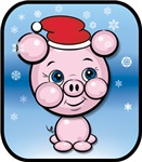 Santa Pig Snow Cartoon Christmas T-shirts Gifts