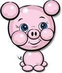 Cutie Cartoon Pig Piglet Cute Art T-shirts & Gifts