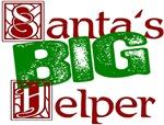 Funny Santa's Big Helper Christmas T-shirts & Gift