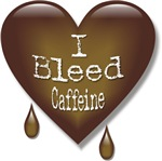 Bleed Caffeine Heart Coffee Lover T-shirts & Gifts