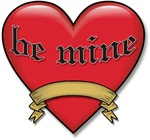 Be Mine Valentine Heart T-shirts & Gifts