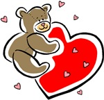 Teddy Bear with Heart T-shirts & Gifts