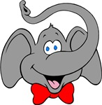 Cute Elephant Cartoon T-shirts & Gifts
