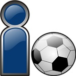 I Play Soccer - Blue