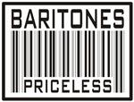 Baritones Priceless Barcode T-shirts & Gifts