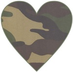 Valentine Camo Heart t-shirts gifts