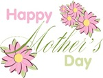 Happy Mother's Day Pink Flowers T-shirts Gifts
