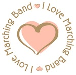 I Love Heart Marching Band T-shirts Gifts