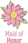 Maid of Honor Pink Flower T-shirts Gifts