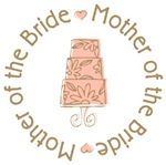 Mother of Bride Wedding Cake T-shirts Gifts