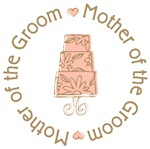 Mother of Groom Wedding Cake T-shirts Gifts