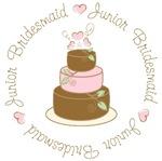 Sweet Jr. Bridesmaid Wedding Cake T-shirts Gifts