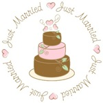 Sweet Just Married Wedding Cake T-shirts Gifts