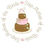 Step-Mother of the Bride Cake T-shirts Gifts