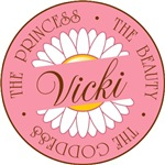 Vicki Princess Beauty Goddess T-shirts Gifts