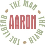 Aaron the Man the Myth the Legend T-shirts Gifts